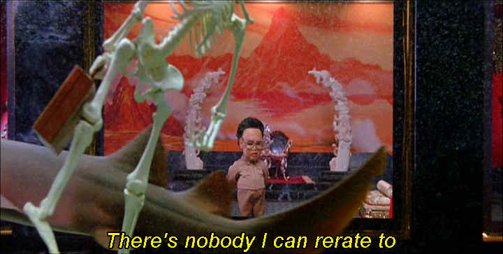 "Kim Jong Il singing ""I'm So Ronery"" in Team America"