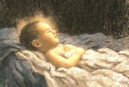 sleeping baby Jesus