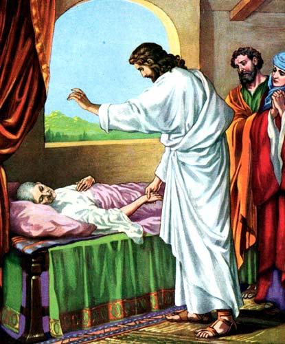 Piav txog lub Koom Txoos rau cov me nyuam yaus Healing-jesus-205