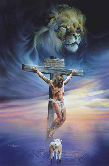 Jesus Christ - the lion and the lamb