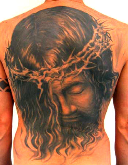 tattoo of Jesus Christ. Jesus Christ has your back