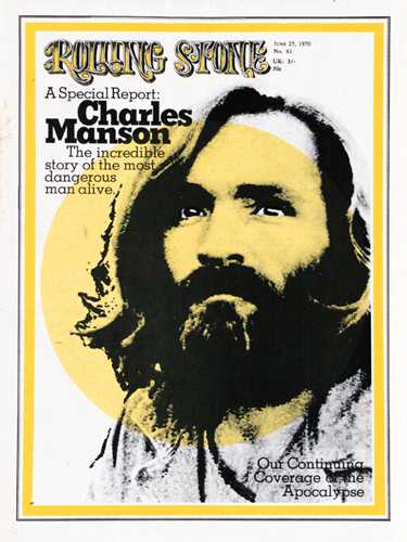Charles Manson on the cover of the Rolling Stone - Made it ma, top of the world!