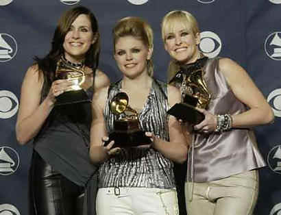 The Dixie Chicks with some of their Grammy awards