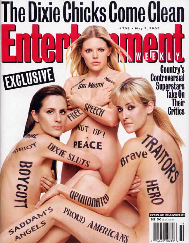 The Dixie Chicks titillating lesbian Entertainment Weekly cover