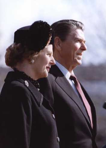Ronnie Reagan and Maggie Thatcher