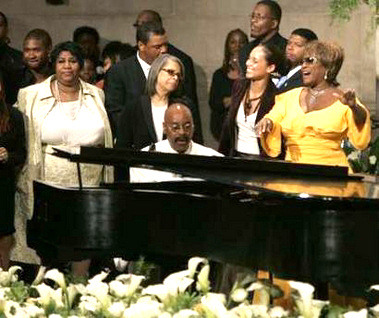 at luther vandross funeral