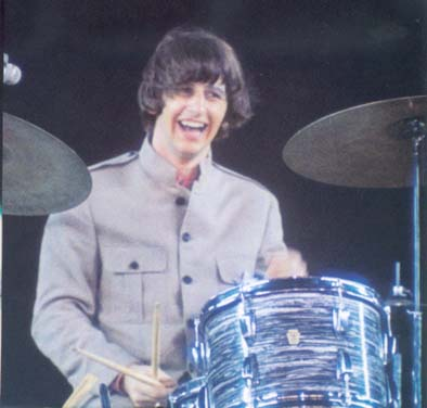 young Ringo Starr whacking the skins