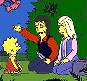 Lisa Simpson, Paul McCartney and Linda McCartney