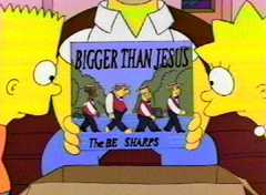 Homer Simpson and the Be Sharps are bigger than Jesus - or even the Beatles