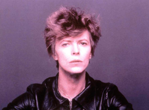 David Bowie in a leather jacket