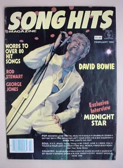 Song Hits Magazine with David Bowie