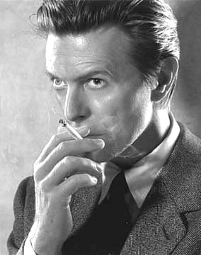 David Bowie film noir pose