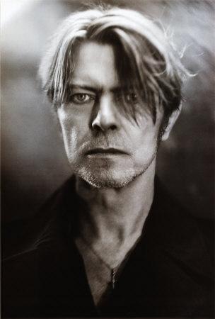 grim looking David Bowie