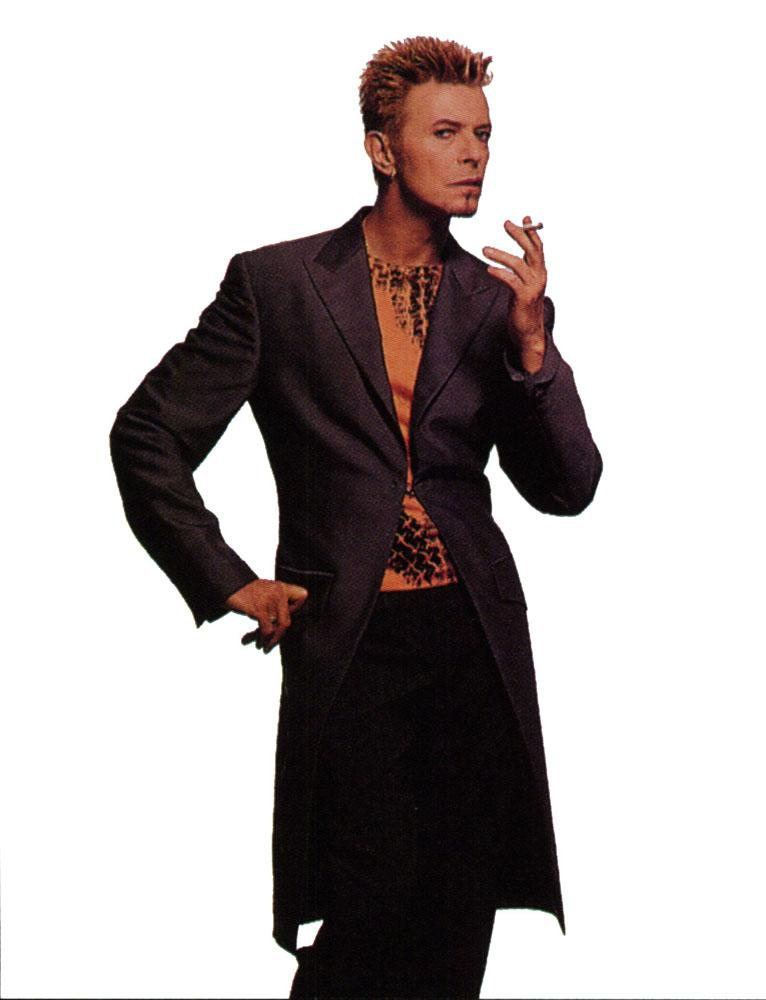 The Thin White Duke smoking a cigarette