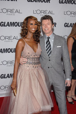Iman and David Bowie image