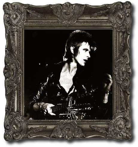 black and white picture of David Bowie