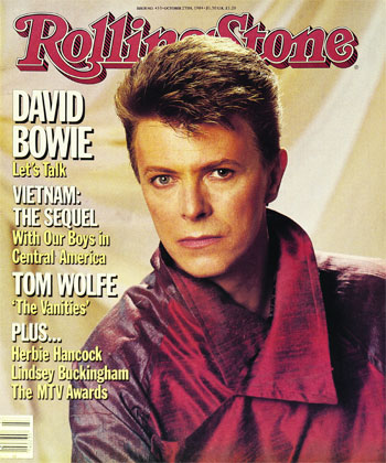 David Bowie on the cover of the Rolling Stone