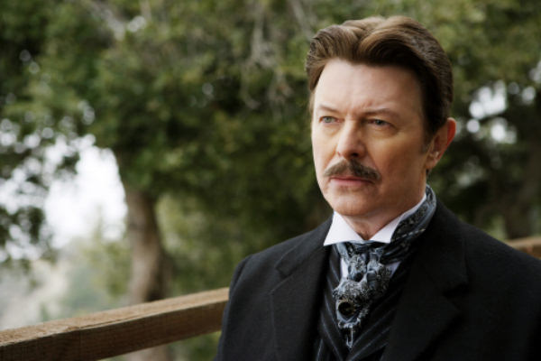 handsome mature David Bowie in The Prestige, 2006 image