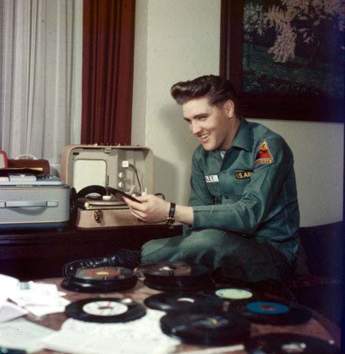 Sgt Presley listening to 45s