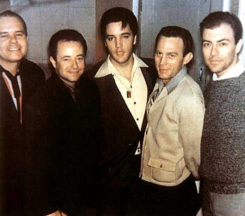 Elvis Presley with the Jordanaires gospel vocal group