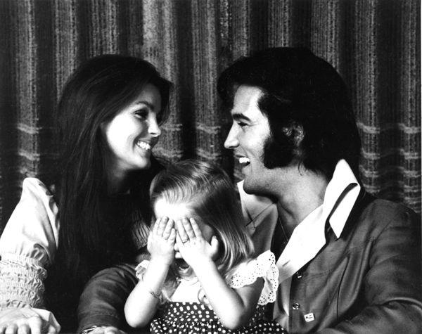 happy family photo, Elvis, Priscilla and Lisa Marie Presley, 1970 photo
