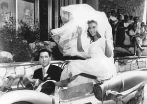 Elvis Presley and bride Ann Margaret in Viva Las Vegas