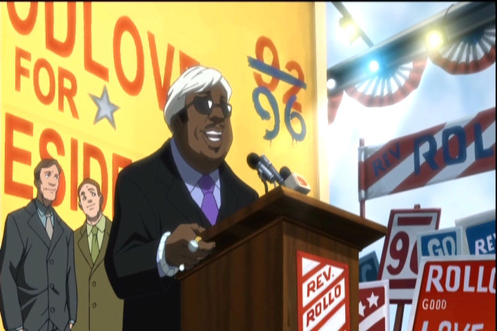 "Thomas ""Cee-Lo"" Calloway of Gnarls Barkley as Rollo Goodlove in The Boondocks"