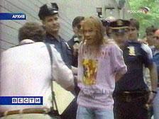 Axl Rose in handcuffs
