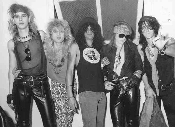 Duff McKagan, Steve Adler, Slash, Axl Rose, Izzy Stradlin