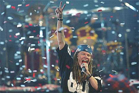 Axl Rose in confetti