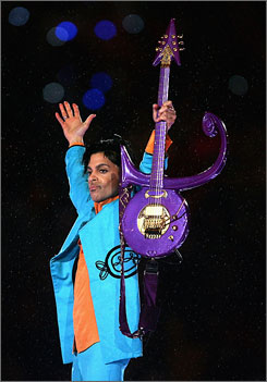 Prince Rogers Nelson Super Bowl XLI halftime photo