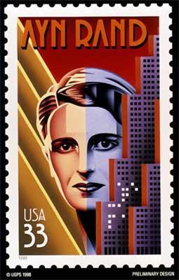 Ayn Rand US postage stamp