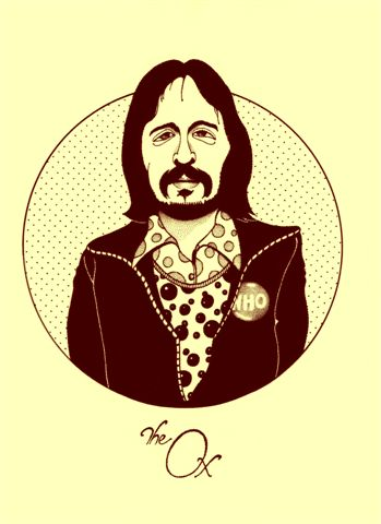 John Entwistle, The Ox - drawing by Gary Roberts