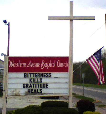 Baptist church message: Bitterness kills, Gratitude heals