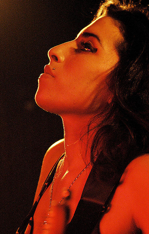 contemplative Amy Winehouse