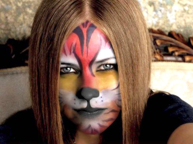tiger face of Avril Lavigne