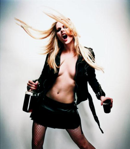 hard partying Avril Lavigne