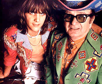Gram Parsons and Nudie Cohen image