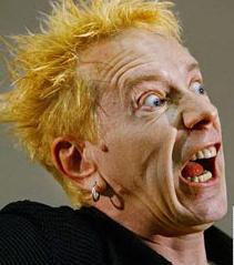 Sex Pistol John Lydon aka Johnny Rotten