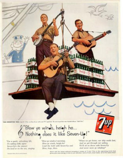 7Up ad with the Kingston Trio