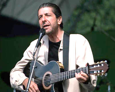 Rock and Roll Hall of Fame member Leonard Cohen
