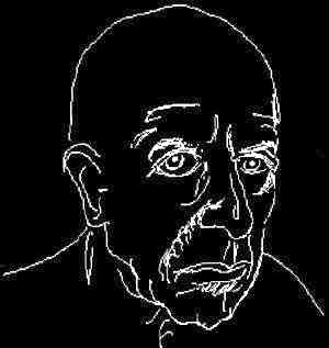drawing of Leonard Cohen