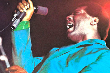 Otis Redding on the mic