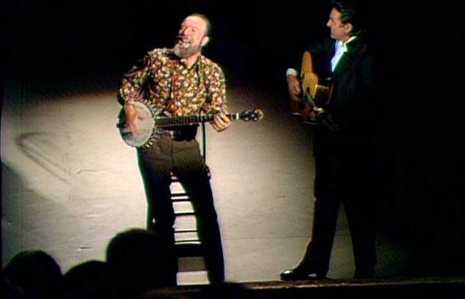 Pete Seeger and Johnny Cash