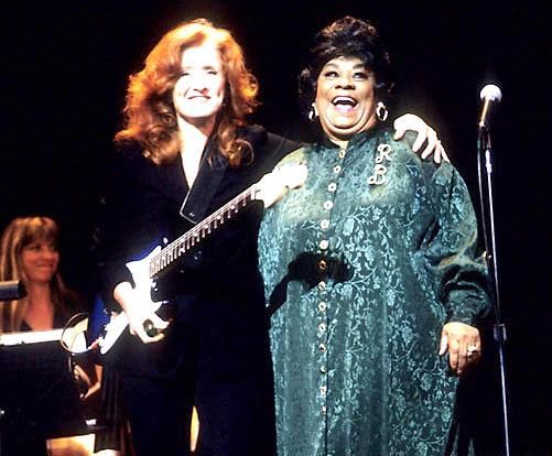 Bonnie Raitt and Ruth Brown on stage