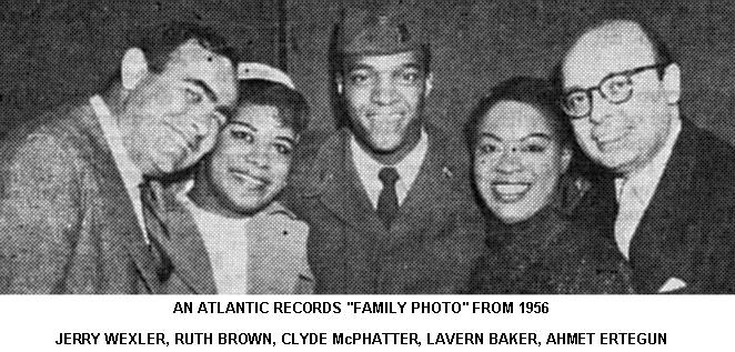 Jerry Wexler, Ruth Brown, Clyde McPhatter Lavern Baker, Ahmet Ertegun