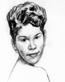 drawing of Ruth Brown