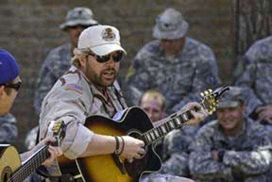Toby Keith on a USO tour